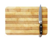 Kitchen knife on cutting board Stock Images