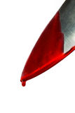Kitchen knife dripping blood Royalty Free Stock Images