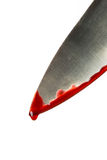 Kitchen knife dripping blood Royalty Free Stock Photo