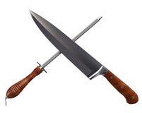 Kitchen Knife & Sharpener Stock Photos