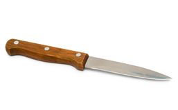 Kitchen knife with wooden handle Royalty Free Stock Photos
