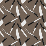 Kitchen knifes seamless background pattern Royalty Free Stock Photos