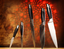 Kitchen knives Royalty Free Stock Images