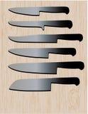 Kitchen Knives Stock Photography