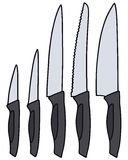 Kitchen knives Stock Photos