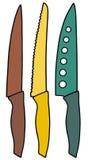 Kitchen knives Stock Photo