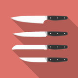 Kitchen knives. Vector collection of cooking Stock Photos