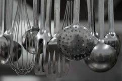 Kitchen ladles Stock Images