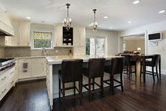 Kitchen with large center island Stock Image