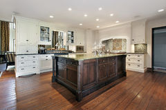 Kitchen with large island Stock Photo
