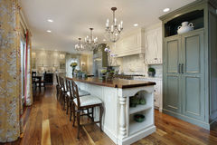 Kitchen with large island Stock Images
