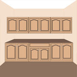 Kitchen-laundry cabinets,vector Royalty Free Stock Photo