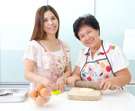 Kitchen lifestyle of asian family Stock Photography