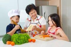 Kitchen lifestyle of asian family Stock Photo