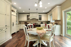 Kitchen with light wood cabinetry Royalty Free Stock Photo
