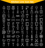 Kitchen line icon set. 100 icon Kitchen line icon set Stock Photography