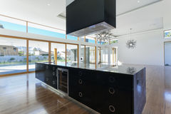 Kitchen and living area royalty free stock photo