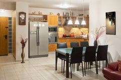 Kitchen living room interior. Stock Photo