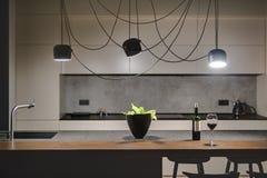 Kitchen in loft style Stock Photo