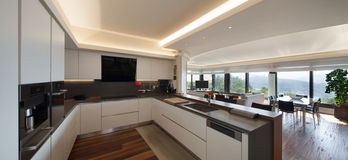 Kitchen of a luxury apartment Royalty Free Stock Photography