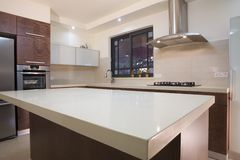 Kitchen luxury design Stock Photo