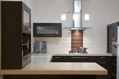 Kitchen luxury design stock images