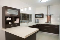 Kitchen luxury design Stock Image