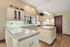 Kitchen in luxury home Stock Photos