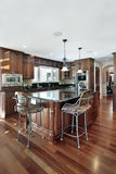 Kitchen in luxury home Stock Image