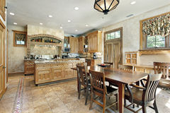 Kitchen in luxury home Stock Photo