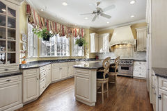 Kitchen in luxury home stock images