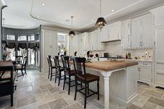 Kitchen in luxury home royalty free stock images