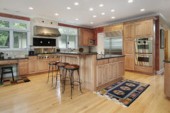 Kitchen in luxury home Royalty Free Stock Image