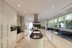 Kitchen of a luxury home Royalty Free Stock Image