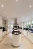 Kitchen of a luxury home Stock Images