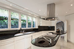 Kitchen of a luxury home Stock Image