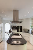 Kitchen of a luxury home Stock Photos