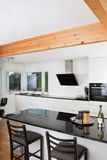 Kitchen in luxury home Stock Photos