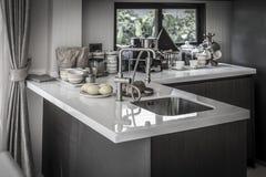 Kitchen. Luxury modern kitchen. Interior design Stock Image