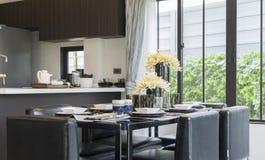 Kitchen. Luxury modern kitchen. Interior design Royalty Free Stock Photo
