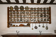 Kitchen in the Marksburg castle Stock Photography