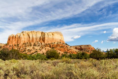 Kitchen Mesa, New Mexico. Kitchen Mesa near the Ghost Ranch in New Mexico royalty free stock photos