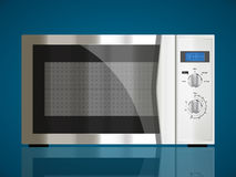 Kitchen - microwave. House appliance concept Royalty Free Stock Photos