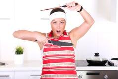 Kitchen is mine! Stock Photo