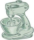Kitchen Mixer Vintage Etching Royalty Free Stock Photo