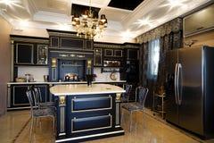 Kitchen in a modern apartment Stock Photos