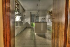Kitchen modern HDR Royalty Free Stock Photos