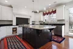 Kitchen in modern home royalty free stock photography