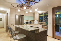 Kitchen in Modern Home with appliences Royalty Free Stock Photos