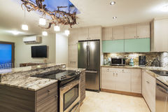Kitchen in Modern Home Stock Images